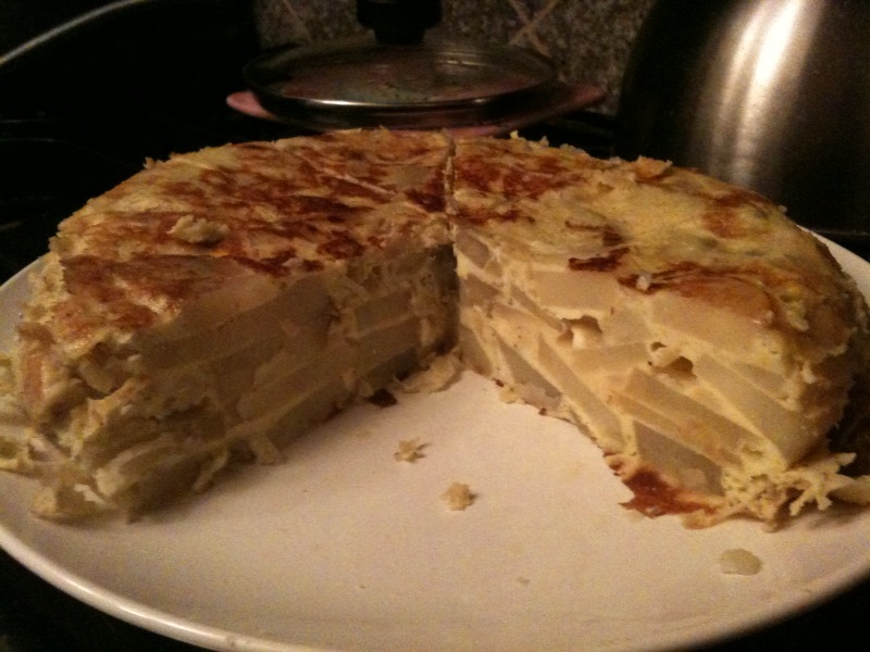 this tortilla espanola tonight. It's basically a spanish frittata ...